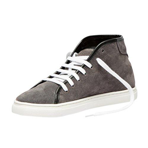 Tedish Sneakers Dames Wandelschoenen Meisje Leder Comfortabele Ongedwongen Lace-up Flats Td005 Esoterische Gerookte Pearl Gerookte Pearl