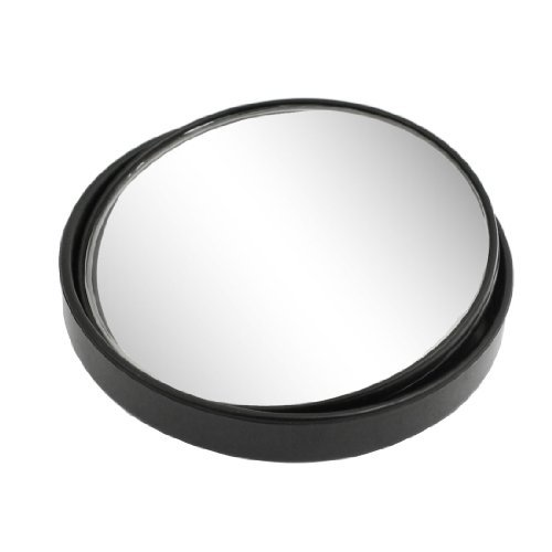 Water & Wood Car Black 3' Degree Adjustable Rearview Round Convex Blind Spot Mirror with Car Cleaning Clothing