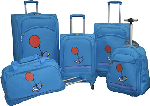 ed-heck-lightweight-5-pc-spinner-luggage-set-sky-blue-flying-penguin
