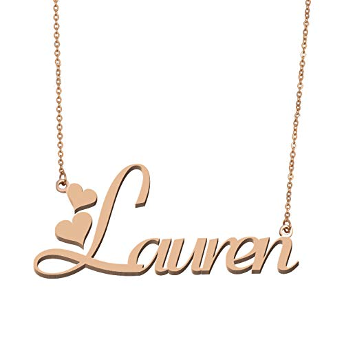 Aoloshow Customized Custom Name Necklace Personalized - Custom