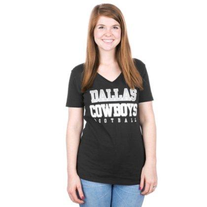 Dallas Cowboys Practice Glitter Tee (Black, L)