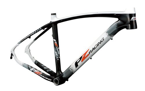 PZ Racing MT4.1FM 29er Bike Frame, 17-Inch, Shiny Black/Whit
