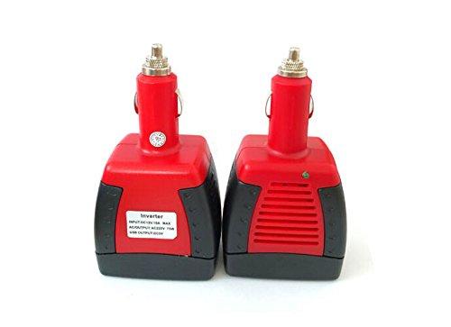 Toshare 75W Car Inverter Charger Turn 12V to 110V Converter with USB Jack