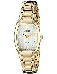 Seiko Womens SUP262 Analog Display Analog Quartz Gold Watch