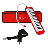 Dilwe 37Key Melodica, Melodica with Mouthpiece Musical Instrument with Carrying Bag for Music Lovers Beginners(Red)