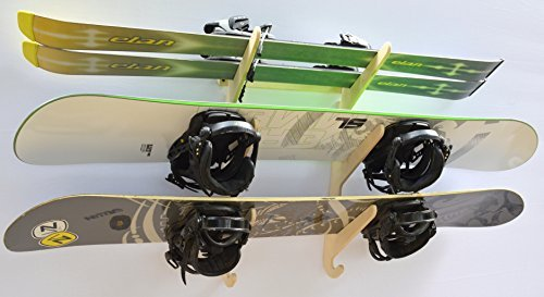 Snowboard Ski Hanging Wall Rack -- Holds 3 Boards by Pro Board Racks