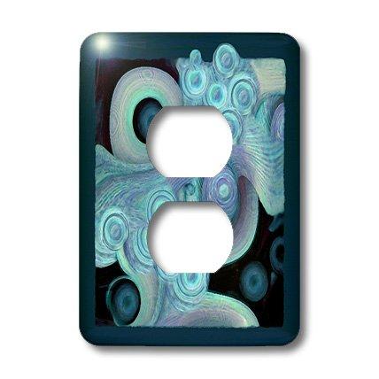 3dRose lsp_27621_6 - Cubierta de 2 enchufes para ondas y conchas de espuma de mar, color azul