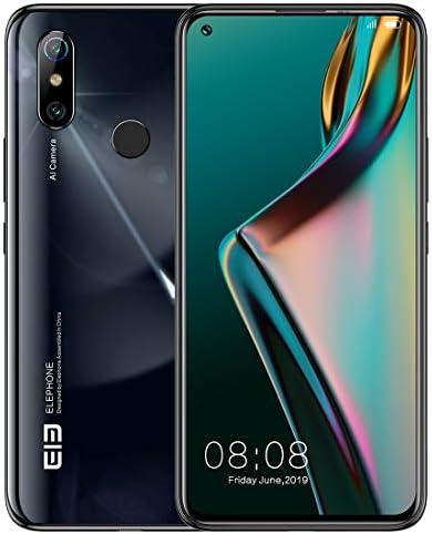 NFC OTG、ネットワーク:4G、6.53インチパンチ穴スクリーンアンドロイド10.0 MTK6771TエリオのP70オクタコア、最大2.0GHzの、指紋認証、ツーフォールド是認カメラ、8ギガバイト+ 256ギガバイト、48MPカメラ、U3H / E6006へ 携帯電話 (Color : Black)