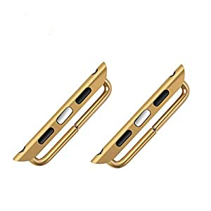 apple iwatch adapter,Gold Apple Watch Clasps Adaptor Connection connector Watch Sport & Edition 42mm (One pair) -Two