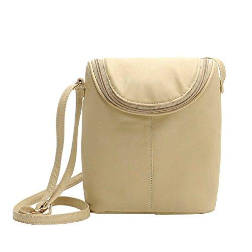 Messenger Bag Semplice Borsa Tracolla In Pelle Secchio Donne Dellunità Di Elaborazione Della Moda,Creamcolor-OneSize