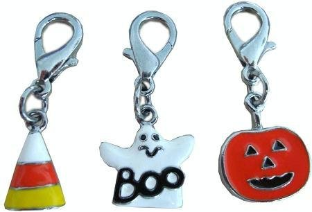 Halloween Lobster Claw Charms/Zipper Pulls Ghost one size Case Pack 24 Hallow... by DSD