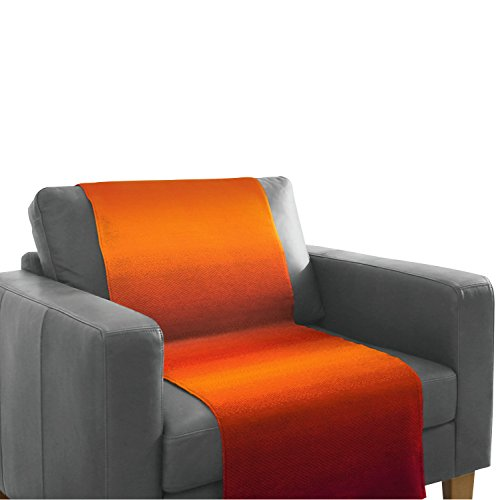 Hochwertiger Sessel- Sofa - Überwurf / Sesselschoner Sofaschoner, terra-bordeaux - 50x200 cm