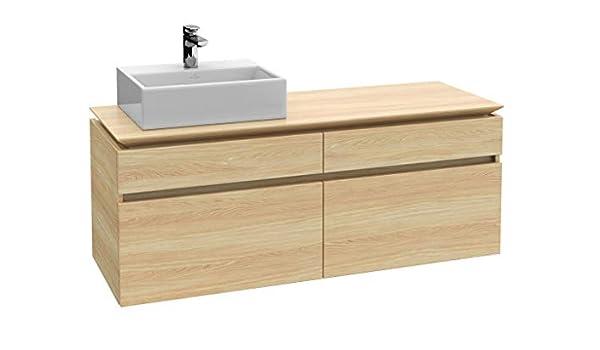 Villeroy & Boch Módulo de lavabo LEGATO 1400 x 550 x 500 mm Blanco ...