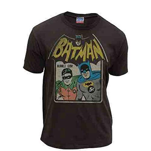 Batman & Robin Bubble Gum Black Adult T-shirt Tee (Na Na Na Na Batman T Shirt)