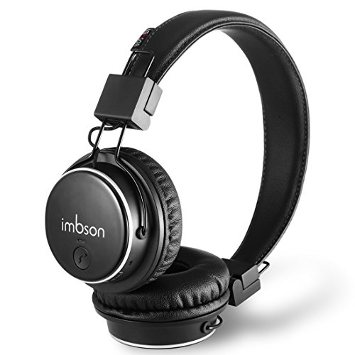 imbson Q8 Bluetooth Headphones Over Ear Lightweight, Comfortable Protein Earpads, Hi-Fi Stereo Wireless Headphones, Foldable Headset w/Built-in Mic and Wired Mode for PC/Cell Phones(Black) by imbson