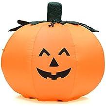 Fun 4 Foot Self Inflating Illuminated Pumpkin Halloween Yard Statue Blow up Inflatable