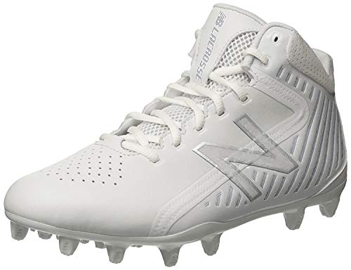 New Balance Men's Rush v1 Lacrosse Speed Lacrosse Shoe, White/Silver, 10.5 D US
