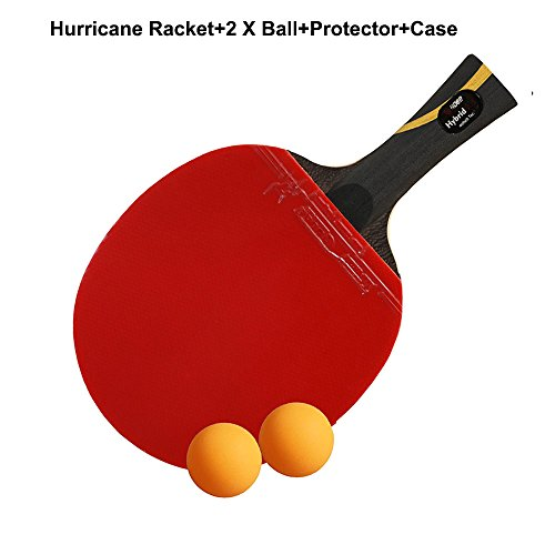 Advanced Training Table tennis Racket,Pro 9.8 Carbon Blade Ping Pong Paddle With Killer Spin,Racquet for Experienced Player With Protector & 40mm Ball