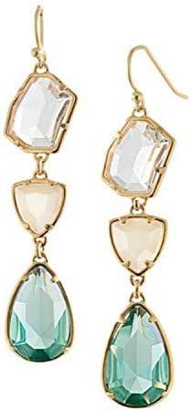 WATERMELON Moda aleación de Resina de imitación Pendientes de Piedras Preciosas Joyas de Oreja Fresca Fresca nuevos Accesorios de joyería Irregular Earrings