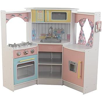 Kidkraft grand gourmet corner kitchen toys for Kitchen set toys amazon