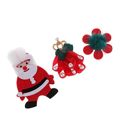 Christmas Patches DIY Sewing Decoration Felt Motif Applique DIY Clothes Gift | Size - 3pcs 45x45mm - 60x90mm