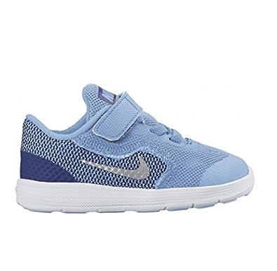 sneakers for cheap 7a7dc 37f08 Nike Revolution 3 (TDV), Zapatos de Primeros Pasos para Bebés, Azul (Bluecap  Metallic Silver-Deep Royal Blue), 26  Amazon.es  Zapatos y complementos