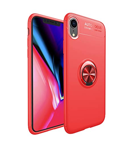 HYAIZLZ iPhone Xr Case Silicone,Soft TPU Hidden Kickstand iPhone Xr Back Case Cover with Car Magnet Function for Apple iPhone Xr 6.1 inch,Color ()