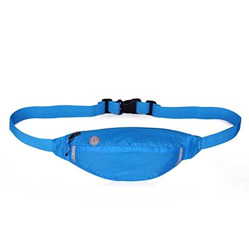 Handbag Bolso de Deportes al Aire Libre de Bolsillo Multiusos Bolsillos de Música Corriente Hombres y Mujeres viajan Bolso de la Llave del teléfono Móvil a Prueba de Agua A+ (Color : Rosa roja) Sky Blue