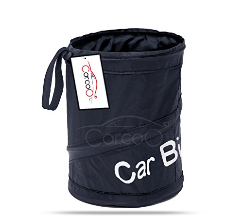 Car garbage can by CarCoo - Pop-up car garbage bag Auto litter bag, Portable Collapsible auto trash bag, Leak Proof auto trash bin.