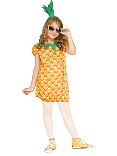 Fun World Pineapple Fun Fruit Child Costume, Large, Multicolor]()