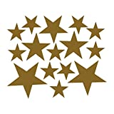 Cyhulu Creative Removable Window Wall Decal, New Fashion 110Pcs Star Mural Stickers Vinyl for Home Bedroom Living Room DIY Art Decoration, 4 Color Available (Gold, One size)