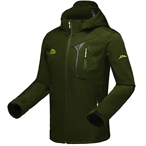 Jacket Insulated Tundra (Outerwear Jacket Coat,Waterproof and Breathable Jacket Outdoor Single-Layer Male Mountaineering Suit, Military Green, L)