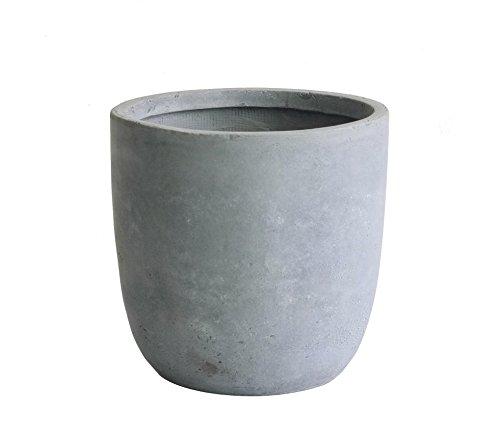 (Kasamodern KM101M Modern Round Concrete Pot Planter, 16