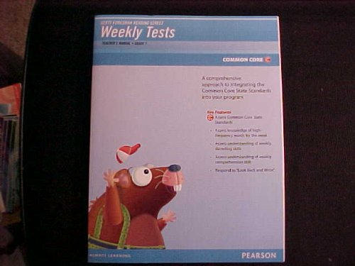 Reading Street Weekly Tests Teacher's Manual Grade 1