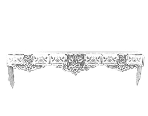 Heritage Lace Heirloom 20-Inch by 91-Inch Mantle Scarf, White