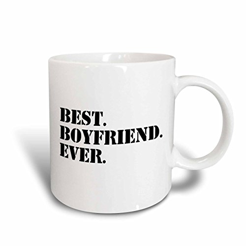 3dRose Best Boyfriend Ever Fun Romantic Love and Dating Gifts for Him, Ceramic Mug, 11-Oz
