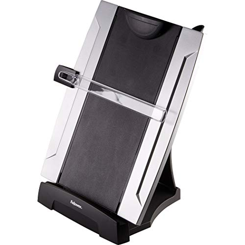 Fellowes Office Suites Desktop Copyholder with Memo Board, Black/Silver (8033201) ()