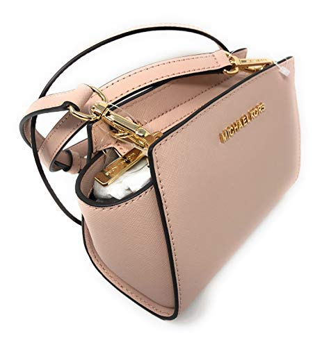 4c95b19130ea MICHAEL Michael Kors Selma Mini Saffiano Leather Crossbody Bag (Ballet)