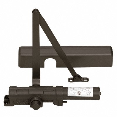 LCN Dark Bronze ANSI Grade 1 Adjustable Multi-Size 1-6 Delayed Action Surface Mounted Door Closer by CR Laurence