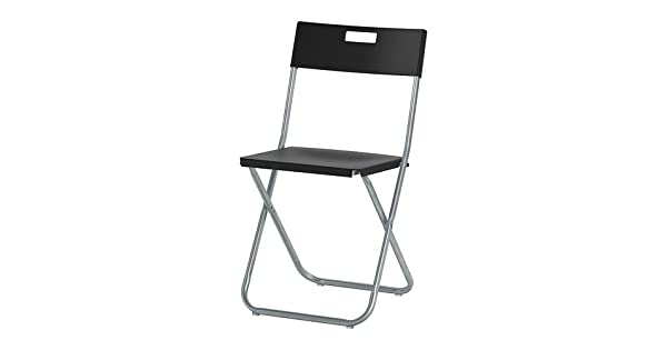 Amazon.com: IKEA – Silla plegable, color negro: Jardín y ...