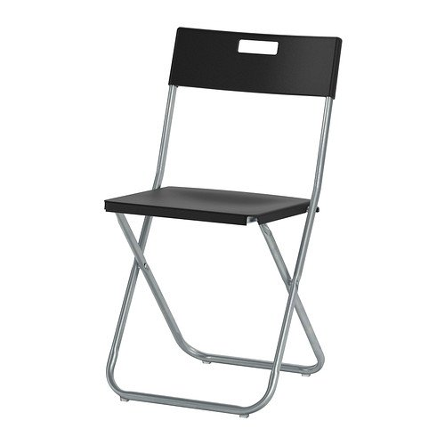 Ikea Folding chair, black