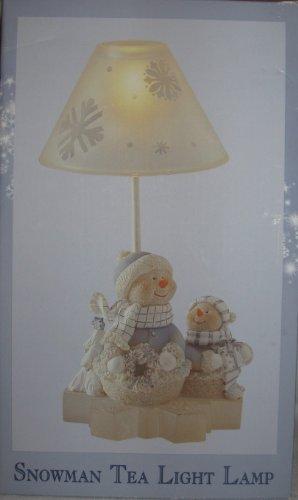 Snowman Tealight Lamp - Snowman Tea Light Lamp