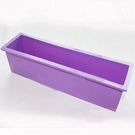 fendii silicona DIY rectangular Jabón Molde - Molde para tostadas pan molde para tostadas caja: Amazon.es: Bricolaje y herramientas