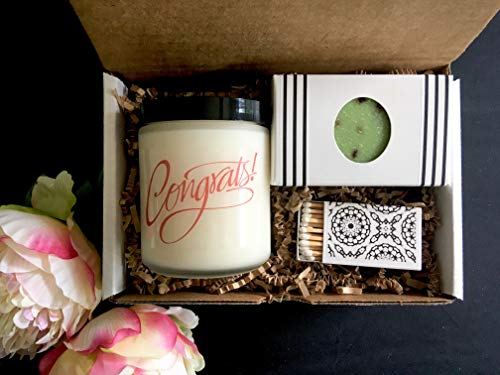 Congratulations Gift - Celebration Gift with Candle and Soap by Peace Organics