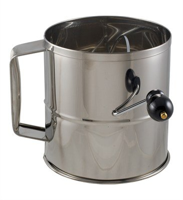 Crestware SFS08 Stainless Steel 8 Cup Flour Sifter