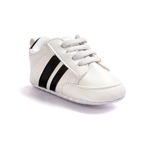 Schuhe Lauflernschuhe Kleinkind MagiDeal Sohle Krippeschuhe Baby Weiß Turnschuhe Schwarz Weiche pxIq47wqO