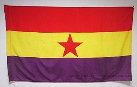 Comprabuena Bandera Republicana ESPAÑOLA Estrella ROJA Ejercito ...