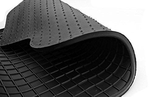 kh Teile 41610 Gummimatten Allwetter Gummi Fu/ßmatten 4-teilig schwarz