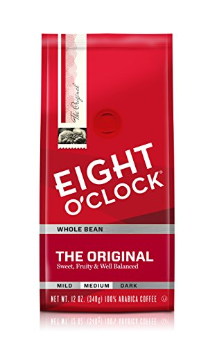 Eight O'Clock Whole Bean Coffee, The Original, 12 Ounce (Pack of 6) (Whole Select Bean)