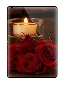 For Ipad Air Tpu Phone Case Cover(red Roses And Candles)